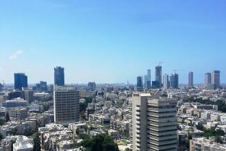 Blick über Tel Aviv vom Shalom Tower