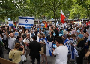 Demonstration gegen den Al-Quds-Marsch 2015