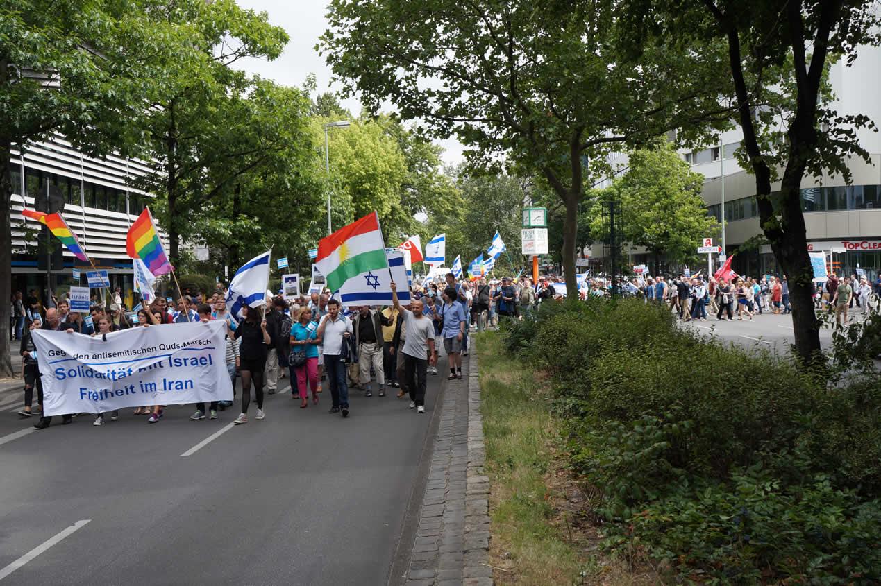 Deutsch-Israelische Gesellschaft Demonstration gegen den Al-Quds-Marsch