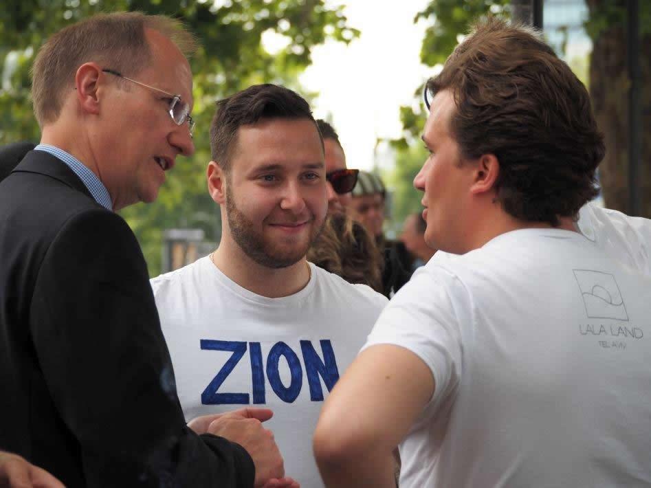 Klaus-Dieter Gröhler MdB,  Mike Delberg, Jüdische Gemeinde zu Berlin, Lukas Krieger, Junge Union