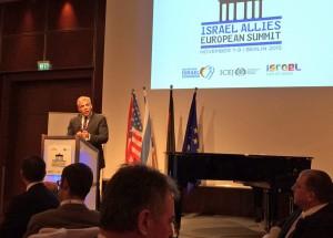 Yair Lapid spricht bei Gala-Dinner von Israel Allies Foundation