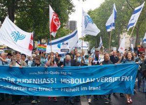 Demonstration gegen den Quds-Marsch