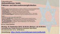 """Podiumsdiskussion """"Antisemitismus heute: Faktoren und Interventionsmöglichkeiten"""""""