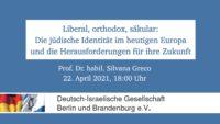 Zusammenschnitt: Liberal, orthodox, säkular – Die jüdische Identität im heutigen Europa und die Herausforderungen für ihre Zukunft