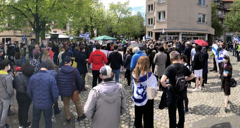 Bericht zur Solidaritätskundgebung mit Israel am 16.05.2021 am Sderot-Platz in Berlin-Zehlendorf